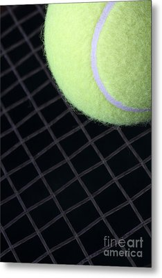 Tennis Anyone Metal Print by John Van Decker