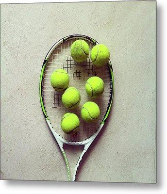 Tennis Metal Print by Shilpa Harolikar