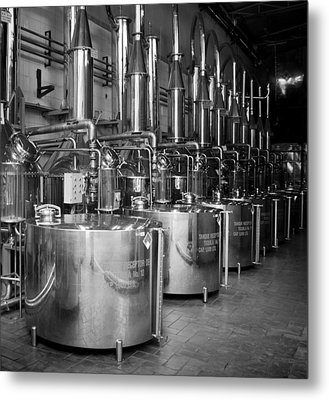 Tequilera S.s. Distillation Tanks Metal Print by Lynn Palmer