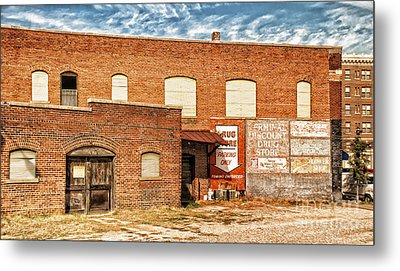 Metal Print featuring the photograph Terminal Drug Store by Jim Moore