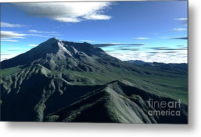 Terragen Render Of Mt. St. Helens Metal Print by Rhys Taylor