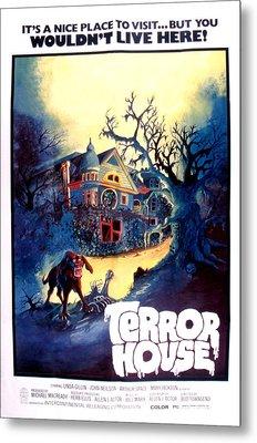Terror House Aka Club Dead Terror At Metal Print by Everett