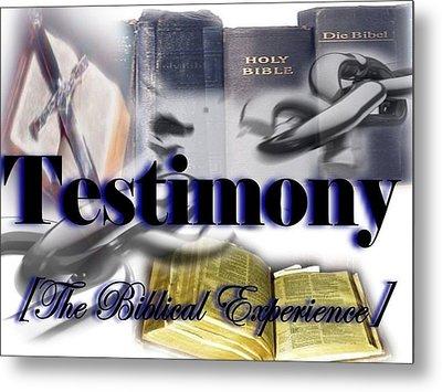 Testimony Metal Print by AKIMALYAH Publishing