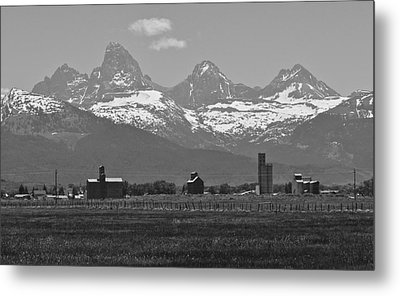 Metal Print featuring the photograph Tetonia Grain Elevators by Eric Tressler