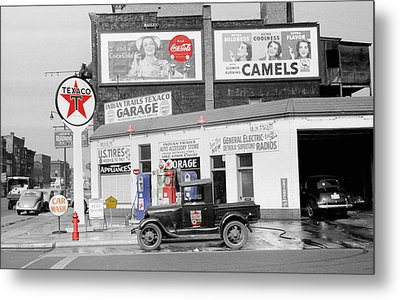 Texaco Station Metal Print by Andrew Fare
