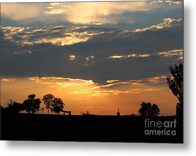 Metal Print featuring the photograph Texas Sized Sunset by Kathy  White