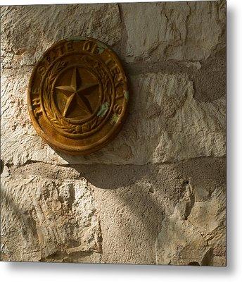Texas State Seal Metal Print by Michael Flood