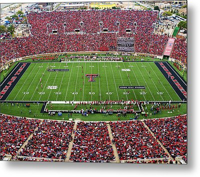 Texas Tech Jones At And T Stadium Metal Print by Michael Strong