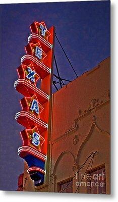 Texas Theater Restored Metal Print by Gib Martinez