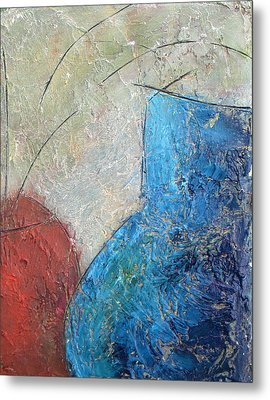 Textured Canvas Urns Metal Print