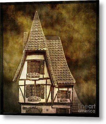 Textured House Metal Print by Bernard Jaubert