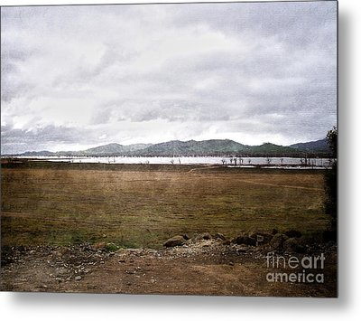 Textured Land Metal Print
