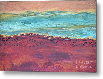Textured Landscape 2 Metal Print by Barbara Tibbets