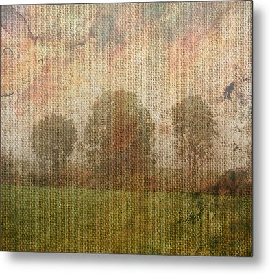 Textured Trees Metal Print by Roni Chastain