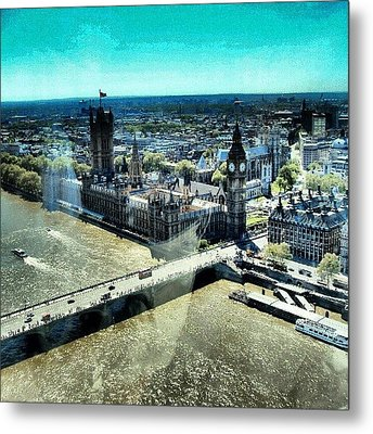 Thames River, View From London Eye | Metal Print