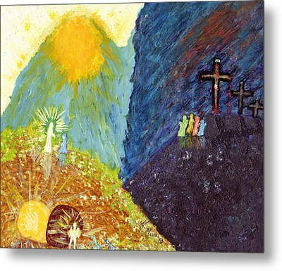 Thank God For Good Friday And Easter Sunday Metal Print by Carl Deaville
