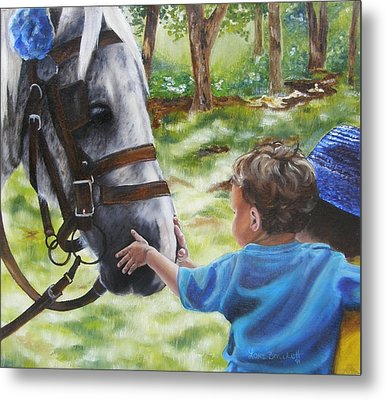 Metal Print featuring the painting Thank You's by Lori Brackett