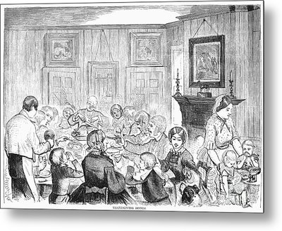 Thanskgiving Dinner, 1857 Metal Print by Granger