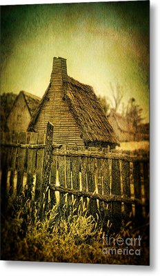 Thatched Cottages Metal Print by Jill Battaglia