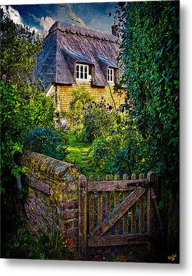 Thatched Roof Country Home Metal Print by Chris Lord