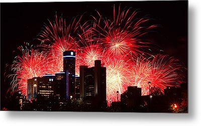 Metal Print featuring the photograph The 54th Annual Target Fireworks In Detroit Michigan - Version 2 by Gordon Dean II