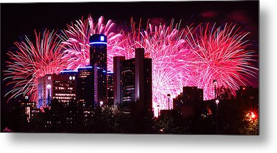 The 54th Annual Target Fireworks In Detroit Michigan Metal Print by Gordon Dean II