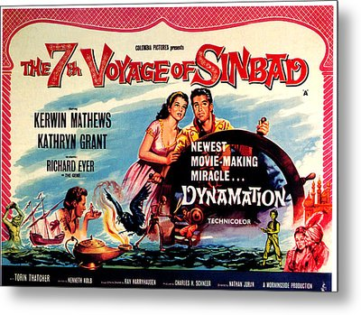 The 7th Voyage Of Sinbad, Aka The Metal Print by Everett