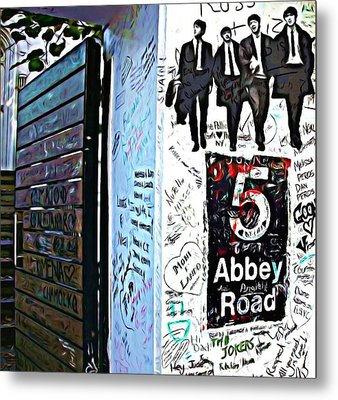 The Abbey Wall Metal Print by ABA Studio Designs