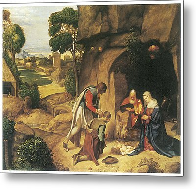 The Adoration Of The Shepherds Metal Print by Giorgione