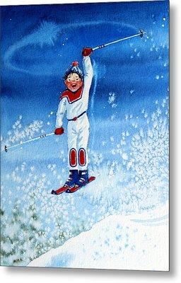 The Aerial Skier 15 Metal Print by Hanne Lore Koehler