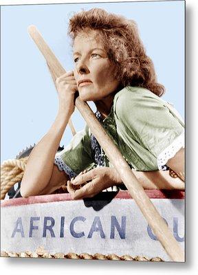 The African Queen, Katharine Hepburn Metal Print by Everett