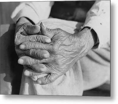 The Aged Hands Of Mr. Henry Brooks Metal Print by Everett