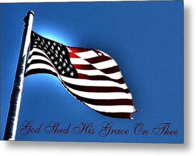 The American Flag Metal Print