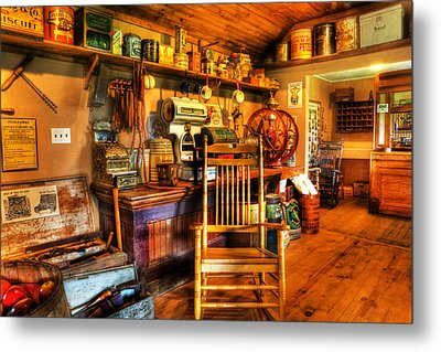 The American General Store -  - Vintage - Nostalgia Metal Print by Lee Dos Santos