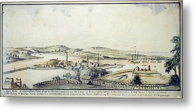 The American Revolution, View Metal Print by Everett
