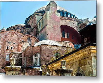 The Ancient Hagia Sophia Metal Print by MaryJane Armstrong