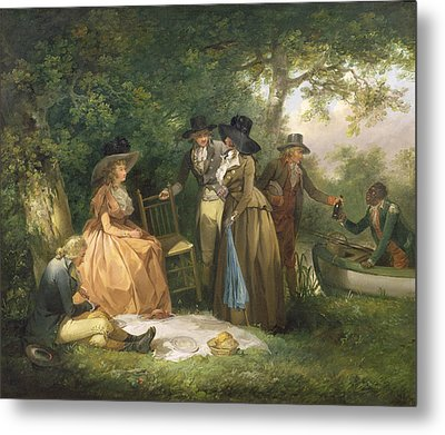 The Angler's Repast  Metal Print by George Morland