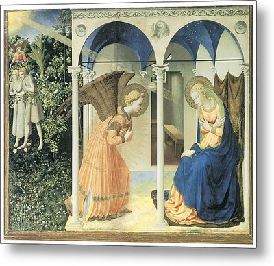The Annunciation Metal Print by Fra Angelico
