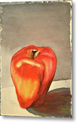 Metal Print featuring the painting The Apple Of by Teresa Beyer