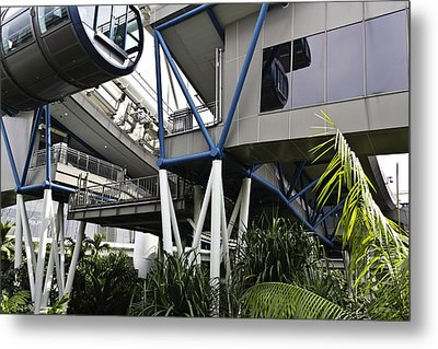 The Area Below The Capsules Of The Singapore Flyer Metal Print by Ashish Agarwal