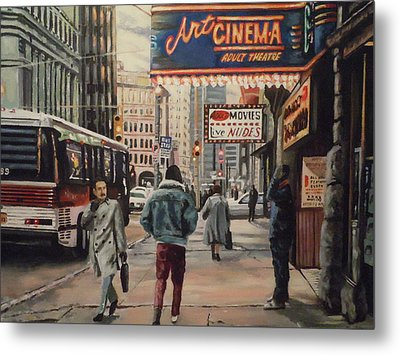 Metal Print featuring the painting The Art Cinema In The 80s. by James Guentner