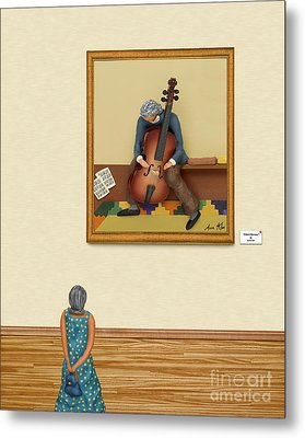 The Art Critic 2 Metal Print by Anne Klar