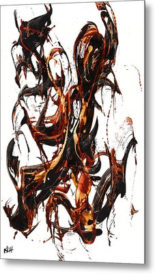 The Art Of Languishing Liquidly Well  22.120110 Metal Print