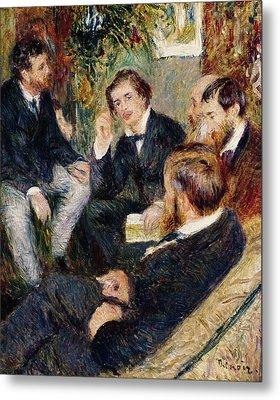 The Artist's Studio Rue Saint Georges Metal Print by Pierre Auguste Renoir