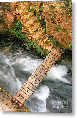 The Autumn Bridge Metal Print