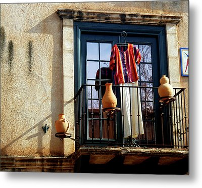 Metal Print featuring the photograph The Balcony by Helen Haw