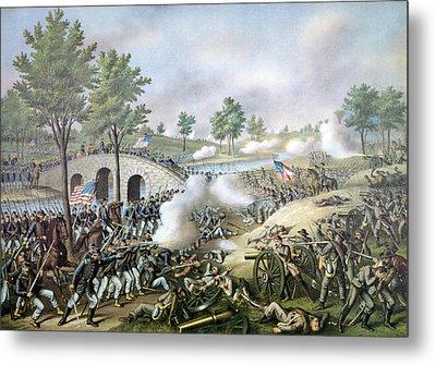 The Battle Of Antietam, September 17 Metal Print by Everett
