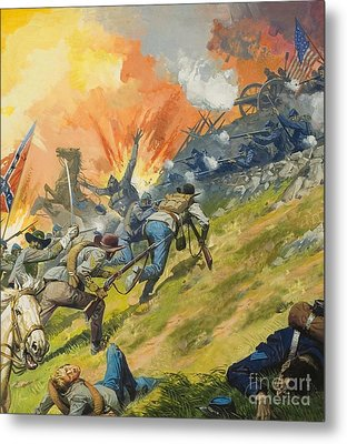 The Battle Of Gettysburg Metal Print