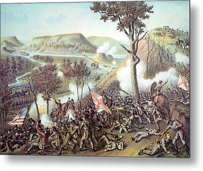 The Battle Of Missionary Ridge Metal Print by Everett