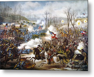 The Battle Of Pea Ridge, Metal Print by Granger